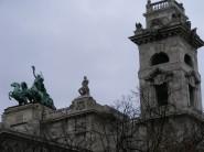 Heroic statuary.