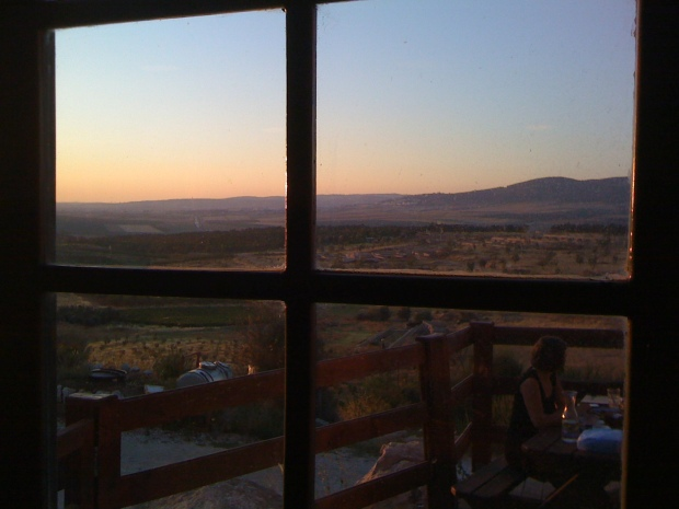 View of valley from the Herb Farm Restaurant, near the Gilboa Mts.